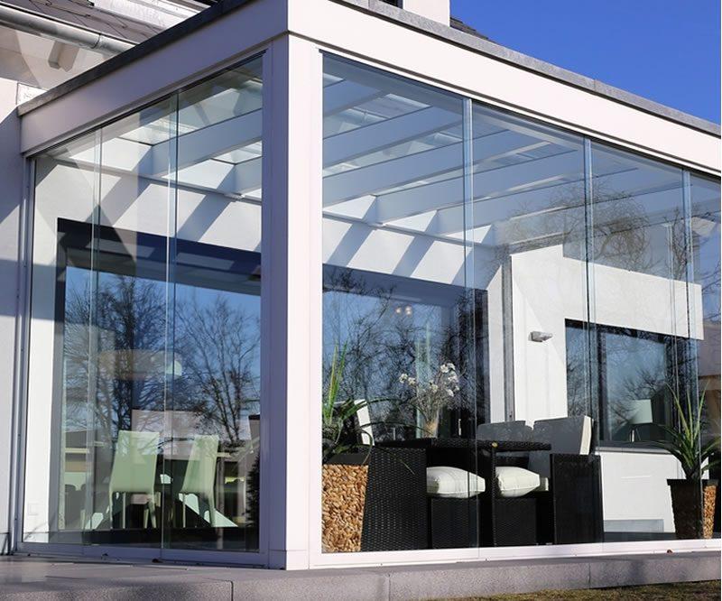 Moderne Wintergarten Glas Engels Meisterbetrieb